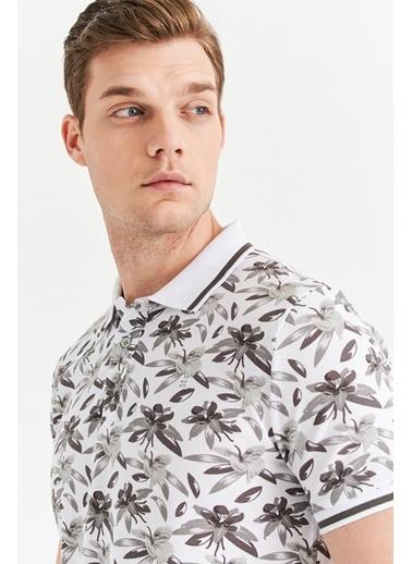 Avva Erkek  Polo Yaka Baskılı Tişört A01Y1011 Gri